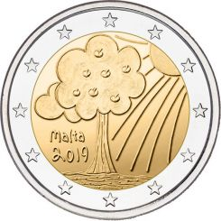 2 euro ,Solidarity children,Nature-Malta, 2019