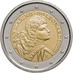 2 euro - 500th Anniversary of the Death of Leonardo da Vinci San Marino