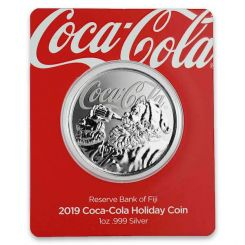 The 2019 Coca-Cola 1 oz Silver Holiday Coin, Fidji, 2019