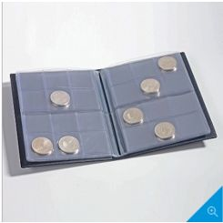 COIN WALLET WITH 8 COIN SHEETS EACH FOR 12 COINS, BLUE,335392