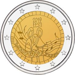 2 Euros,  Estonia,150th anniversary of the Estonian song festival,2019