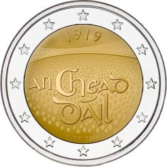 2 Euros, Ireland,Centenary of the first sitting of D‡ail ƒIreann, 2019