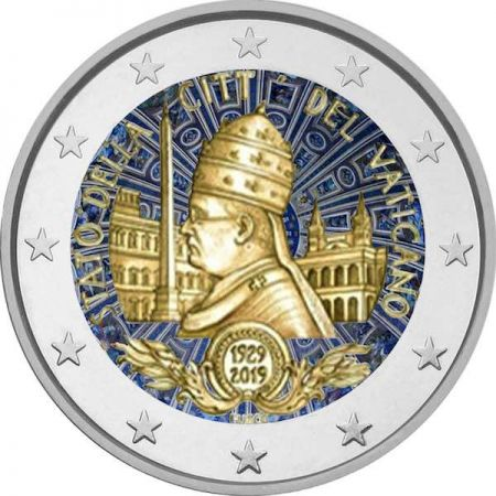 2 euro - 90th anniversary of the founding of the state of Vatican City Series: Vatican City
