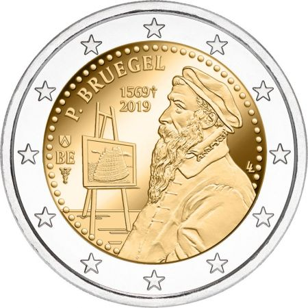 Editing product: 2 Euros, Belgium,The 450th anniversary of the death of Pieter Bruegel the Elder2019
