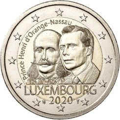 2 Euros, 200 years from the birth of Prince Henry,Luxembourg,2020