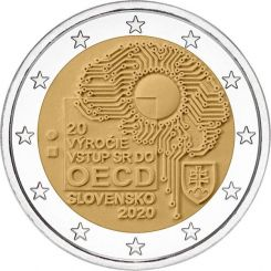 2 Euros, The 20th anniversary of the accession of the Slovak Republic to the OECD,Slovakia,2020