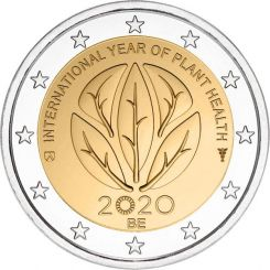 2 Euros, International Year of Plant Health,Belgium,2020