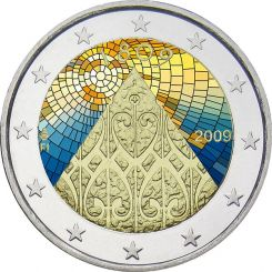 2 Euro, Colorized, Finland, 200 Years of Autonomy, 2009