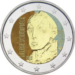 2 Euro, Colorized, Finland, Helene Schjerfbeck, 2012