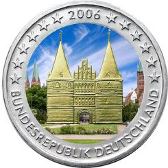 2 Euro, Colorized, Germany, Schleswig-Holstein, 2006