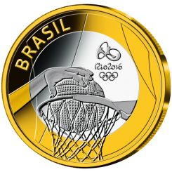 Olympic Games, Rio 2016, Series 2, Basemetal, 2015, Basketball