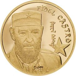 Fidel Castro, Gold, 999 2017, Proof, Mongolia