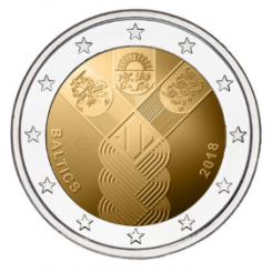 2€, 100th anniversary of the Restoration of Lithuania's Independence, 2018